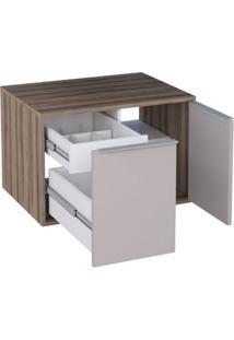 Gabinete Módulo Suspenso Para Banheiro 60Cm Mdf Arati Tamarindo Com Nude 59,7X40X43,1Cm - Cozimax - Cozimax