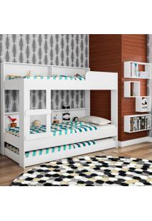 Treliche Com Estante Miami Cj025 Branco - Art In Móveis