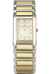 Relógio Analógico Jv02008- Prateado & Dourado- Jean Jean Vernier