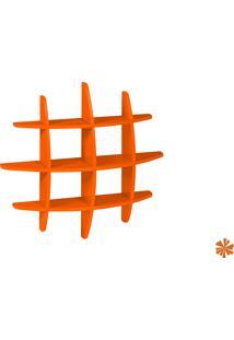 Prateleira Taylor Hashtag Média Mdf Laranja 598-0037 - 90X90X14 Cm