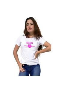 Camiseta Feminina Cellos Sigle Rose Premium Branco