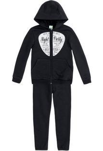 Conjunto Moletom Infantil Menino Com Jaqueta E Calça