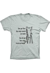 Camiseta Baby Look Lu Geek Girafa Prata