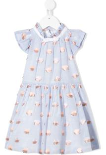 Hucklebones London Vestido De Renda - Azul