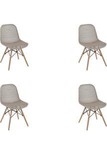 Kit 4 Cadeiras Decorativas Sala E Cozinha Haney (Pp) Gran Belo - - Dafiti