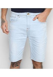 Bermuda Jeans Quiksilver Artor Delave Masculina - Masculino-Azul Claro