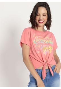 "Camiseta ""Coca-Cola Jeans®""- Rosa & Amarela- Coca-Cococa-Cola"