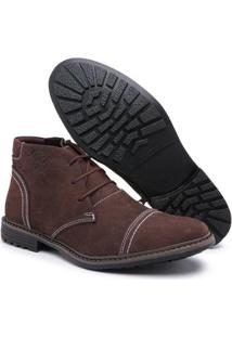 Bota Top Franca Shoes C/ Ziper Masculino - Masculino-Cafe