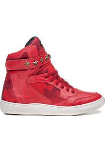 Tênis Sneaker Masculino Rock Fit Bon Jovi Vermelho E Camuflado