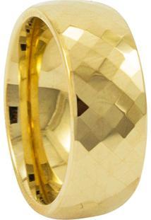Aliança De Tungstênio New Tungsten Briolet Dourado