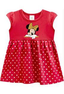 Vestido Bebê Menina Disney Vermelho