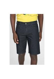 Bermuda Jeans Colcci Reta Noah Azul-Marinho