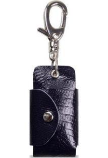 Porta Chave Artlux Canivete Em Couro - Unissex-Azul