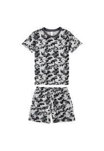 Pijama Malwee 1000077434 Infantil Cinza