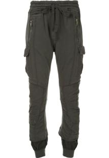 Haider Ackermann Distressed Layered Track Pants - Verde