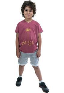 Bermuda Infantil Comfy Masculina - Masculino-Cinza