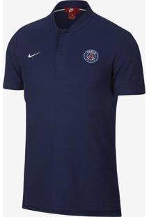 Camisa Polo Nike Psg Authentic Grand Slam Masculina ae09e686cee74