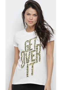 Camiseta Calvin Klein Get Over It Feminina - Feminino-Off White