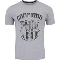 eefb27bae7fb5 Camiseta Barcelona Brasão - Masculina - Cinza