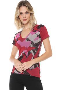 Camiseta Forum Estampada Vermelha/Rosa