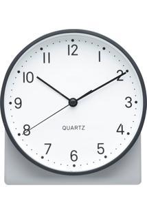 Relógio De Mesa Classical Style Preto E Branco 15X7,5X17 Cm Urban