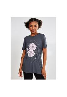 Camiseta Estampa Floral