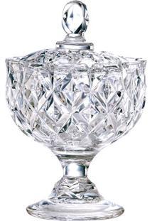Bomboniere Com Pé- Cristal- 20Xø24Cm- Full Fitfull Fit