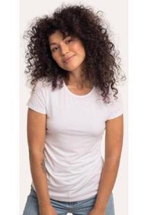 Camiseta Cora Básico Decote Redondo Modal Feminina - Feminino