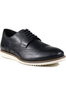 Sapato Masculino Social Zariff Em Couro Salto Quadrado