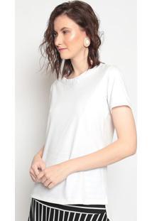Camiseta Lisa - Branca - Linho Finolinho Fino