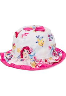 Monnalisa Little Mermaid Hat - Branco