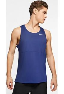 Regata Nike Breathe Run Tank Masculina - Masculino-Azul+Prata