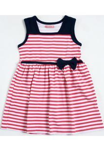 Vestido Infantil Listrado Marisa