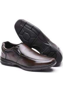 Sapato Social Confort Leve Versales Masculino - Masculino-Café
