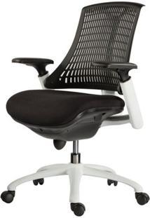 Cadeira Escritorio Plasticase Preta Com Rodizios - 40985 - Sun House