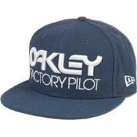 cf2c1bded1 Boné Oakley Factory Aba Reta Novelty - Masculino-Azul