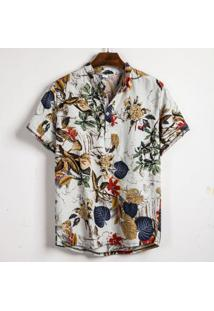 Camisa Havaiano Henley - Palm P