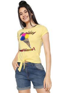 Camiseta Fiveblu Florida Amarela