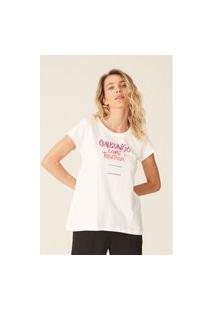 Camiseta Onbongo Feminina Estampada Off White
