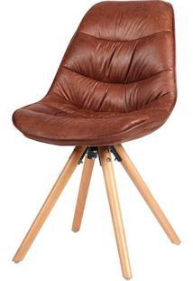 Cadeira Eames Foam Pu Marrom Envelhecido Base Mad. - 38081 - Sun House