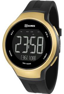 Relógio Digital Quartz Xmppd554Pxpx- Preto & Douradoorient