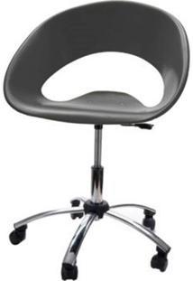 Cadeira One Giratoria Cromada C/Braco Cor Cinza - 22659 - Sun House