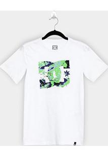 Camiseta Juvenil Dc Shoes Vertical Surface Masculina - Masculino-Branco