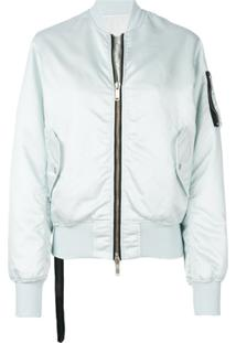 Unravel Project Jaqueta Bomber Cropped - Azul