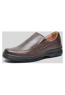 Sapato Conforto Ded Calçados Sem Cadarço Café
