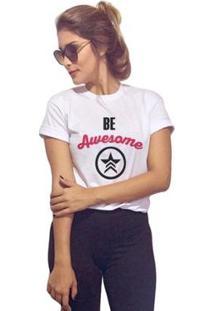 Camiseta Joss Be Awesome Feminina - Feminino-Branco