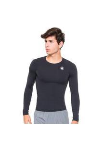 Camisa Esporte Legal Térmica Proteçáo Uv Preta