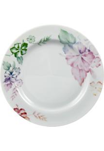 Prato Sobremesa Porcelana Schmidt - Dec. Alessandra