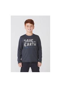 Camisa Infantil Menino Manga Longa Com Estampa