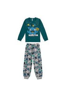 Pijama Infantil Bebê Inverno Estampa Monster Malwee Kids